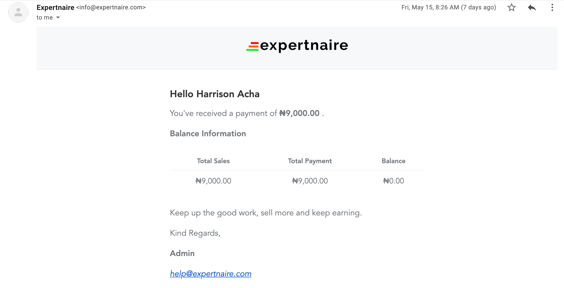 Expertnaire payout- how to make money online in Nigeria