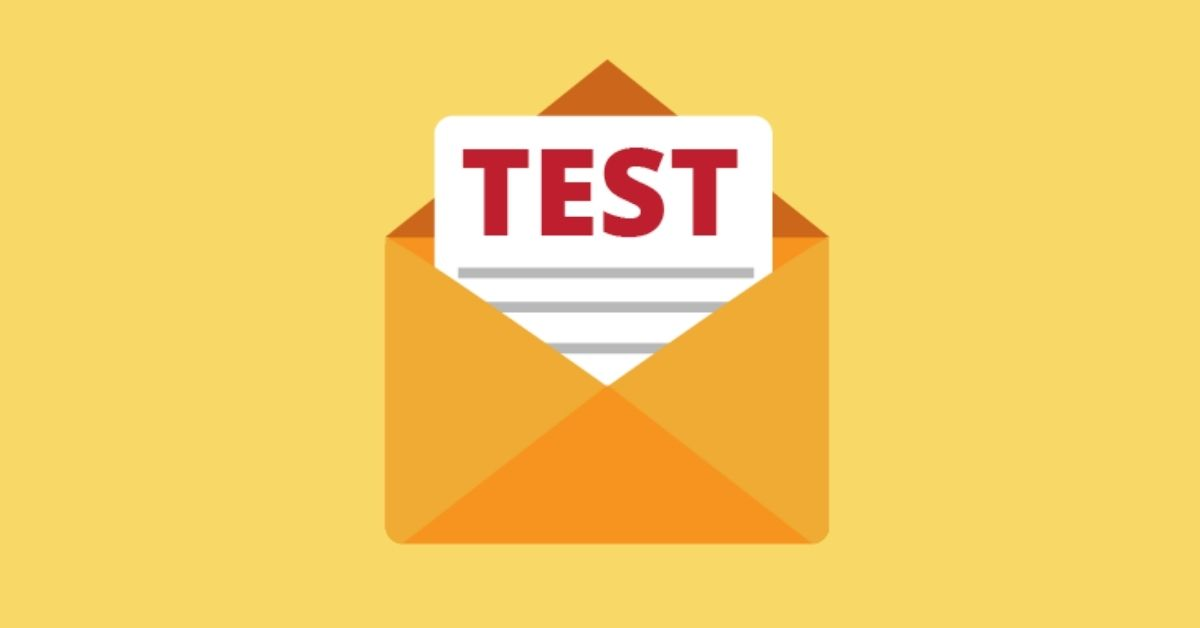Email marketing test