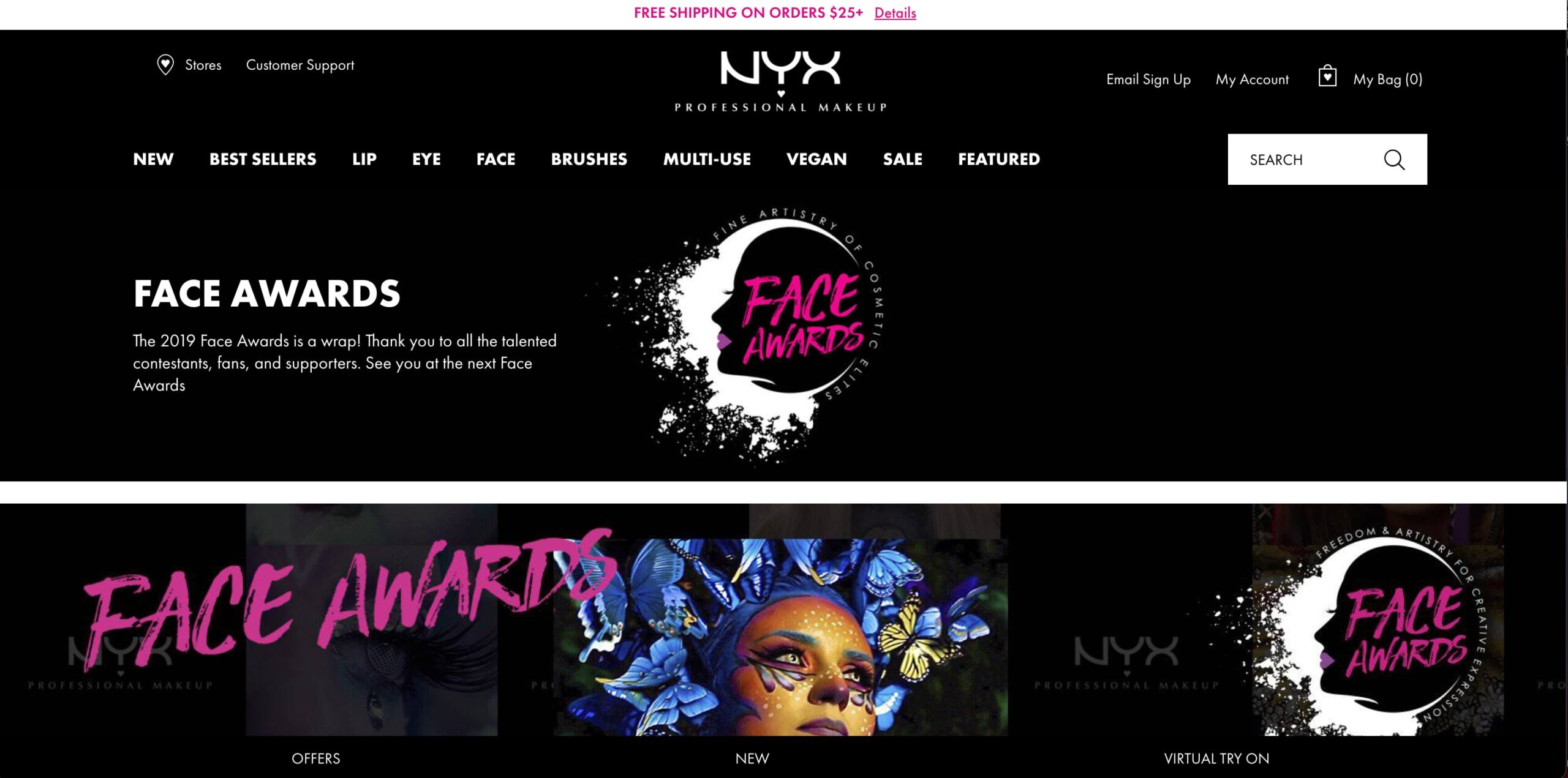 digital marketing strategies for beauty brand: Face Award