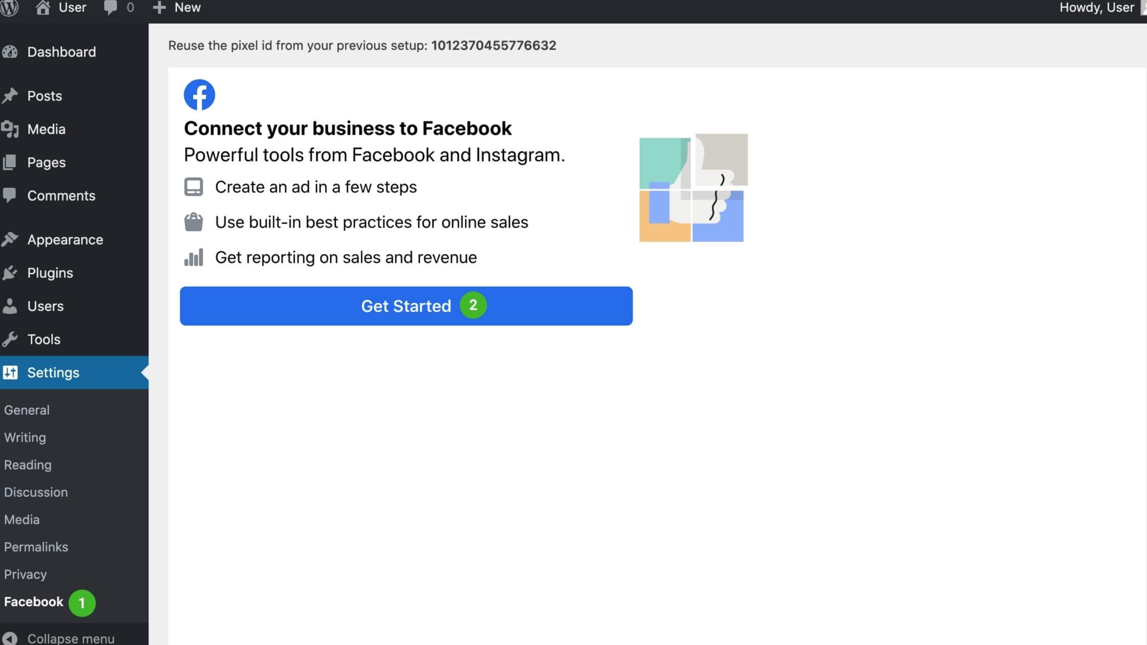Connect business to Facebook